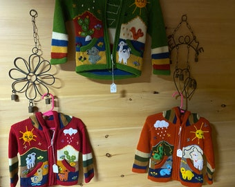 Children's Alpaca zip up hoodie