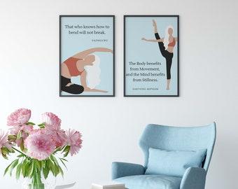 Yoga Quote Wall Art, Sadguru Quotes, Yoga Studio Decor, Wall Decor, Spirituality Yoga Printable, Instant Digital Download
