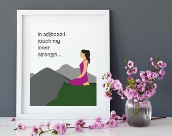 Yoga Quote, Meditation Quote, Yoga Studio Decor, Wall Decor, Spirituality Yoga Printable, Instant Digital Download