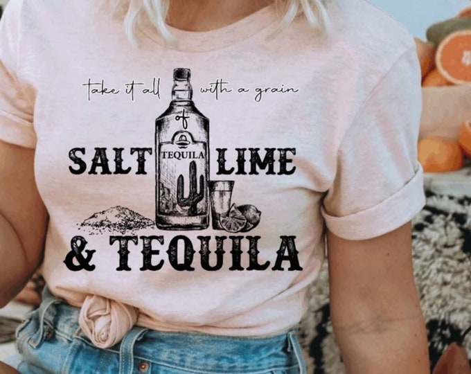 Salt Tequila and Lime Graphic Tee