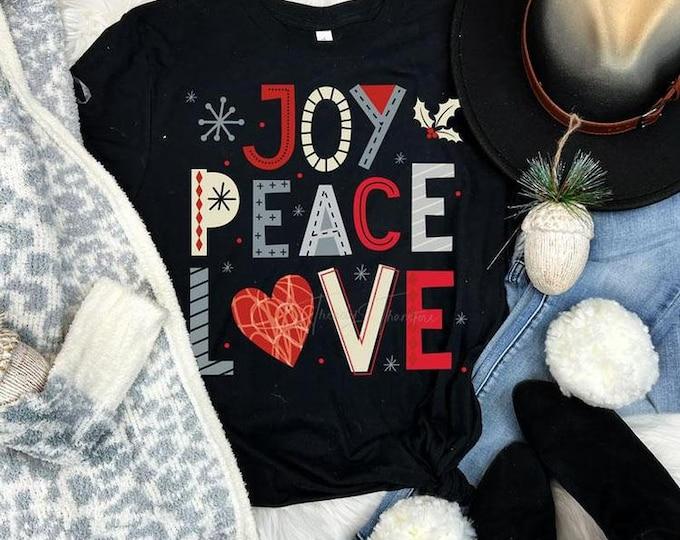 Joy Peace Love Christmas Tee