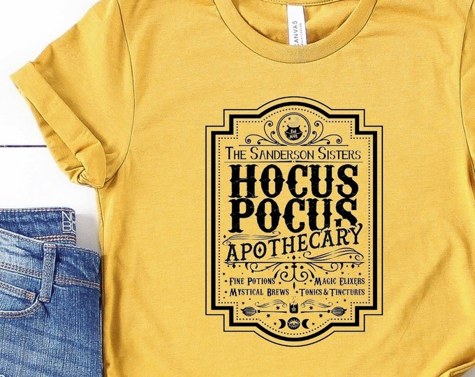 Halloween Apothecary Shirt Black Ink