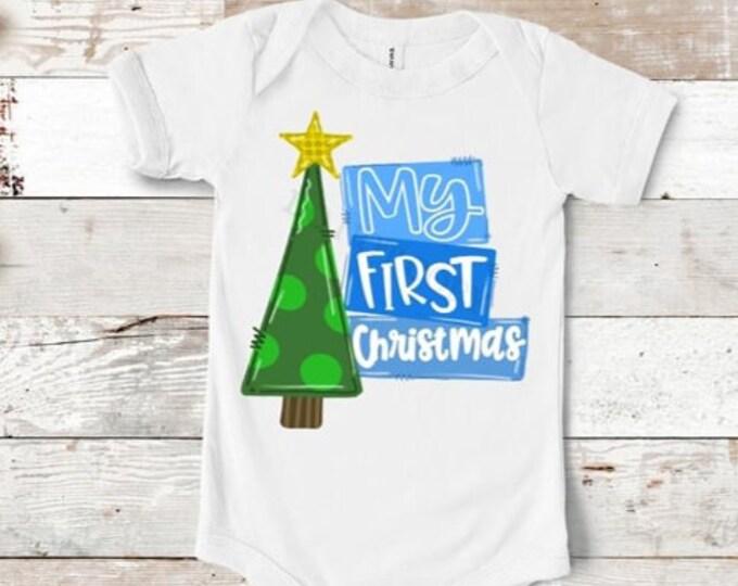 My First Christmas Boy Onesie
