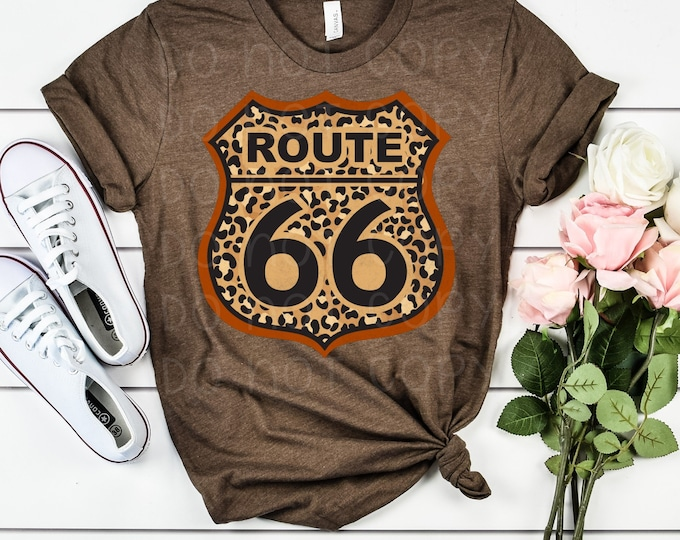 Route 66 Leopard Graphic Tee