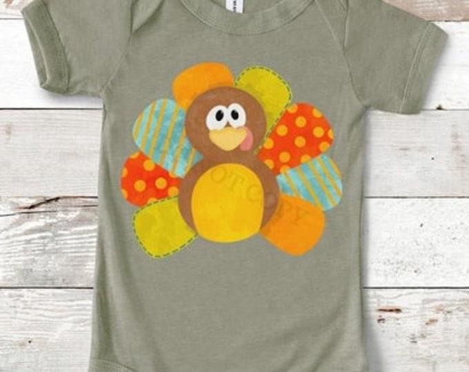 Colorful Turkey Onesie