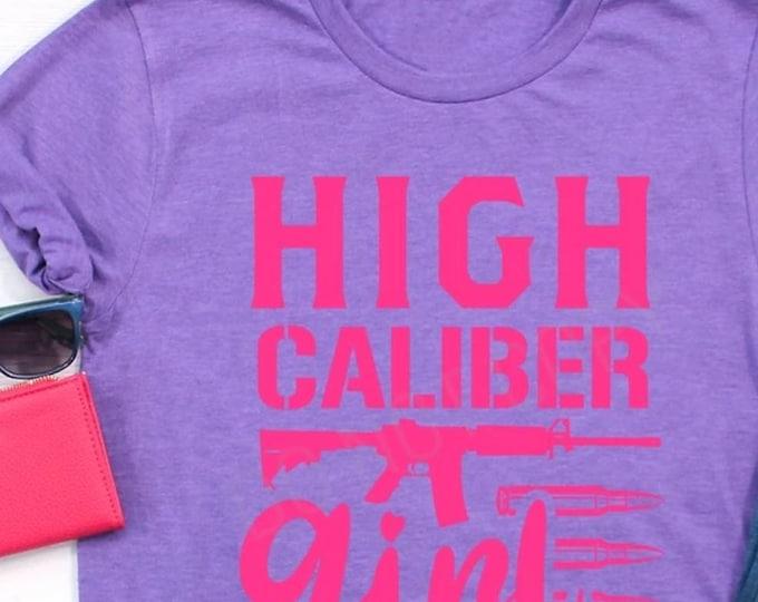 High Caliber Girl Pink Ink, Graphic Tee