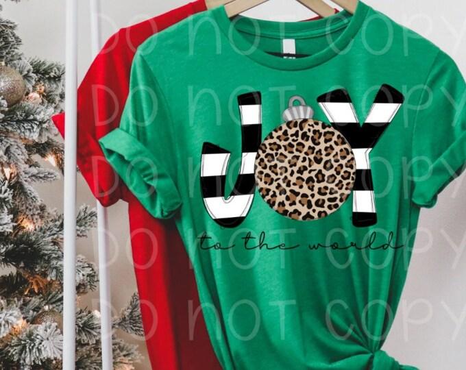 Leopard Joy Christmas Tee