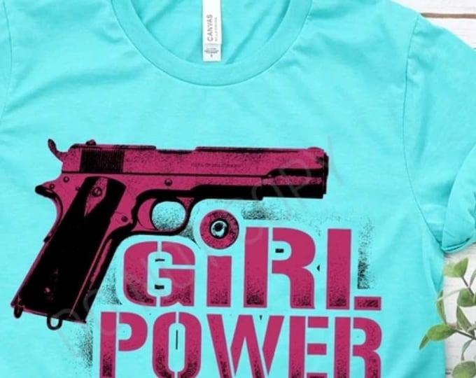 Girl Power, Pink Ink, Gun Graphic Tee