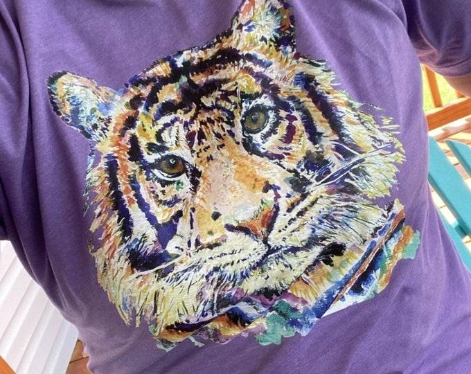 Watercolor Tiger Head Tee