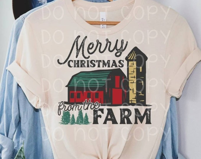 Merry Christmas from the Farm Graphic Tee