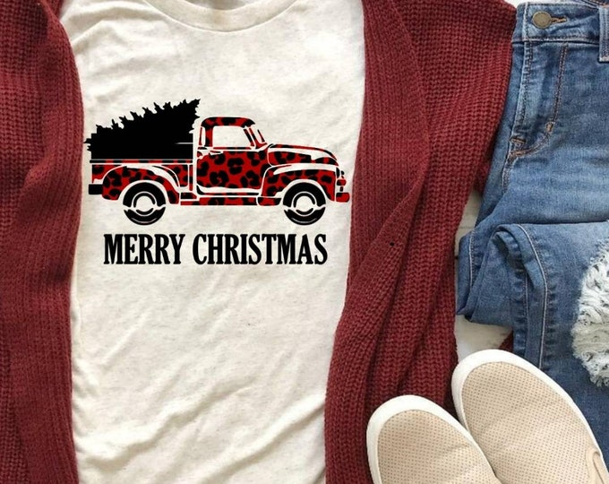 Leopard Truck with Christmas Tree