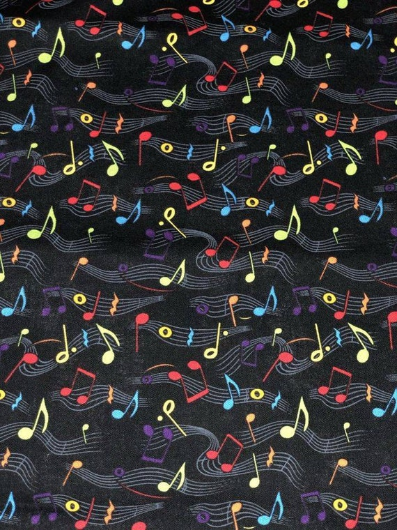 Rainbow Musical Notes Facemask