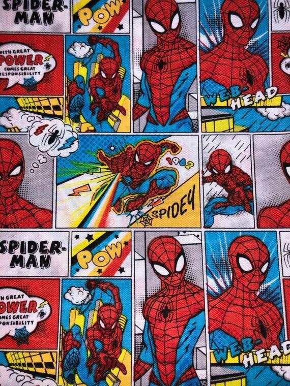 Spiderman Comic Print Facemask