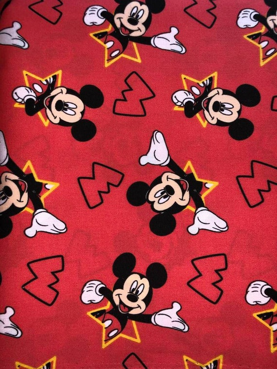 Mickey Mouse Print Facemask