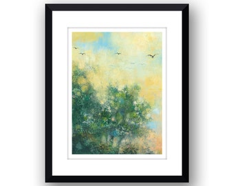 Over The Trees - Signed Limited Edition, mounted print.