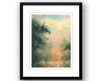 Reflections - Signed Limited Edition, mounted print.