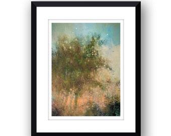 Golden Trees - Signed Limited Edition. mounted print.