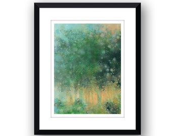 Morning Woodland - Signed Limited edition, mounted print.