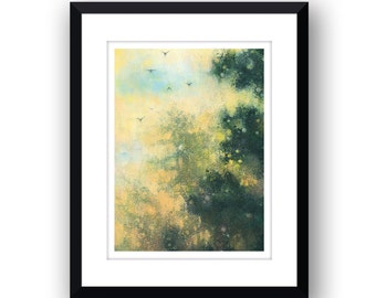 High Above The Trees - Signed Limited Edition, mounted print.