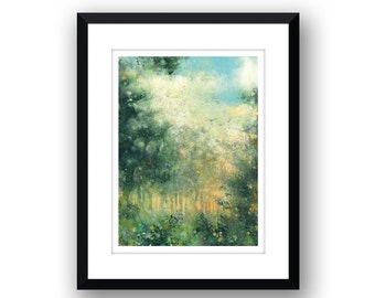 Woodland Setting - Signed Limited Edition, mounted print.
