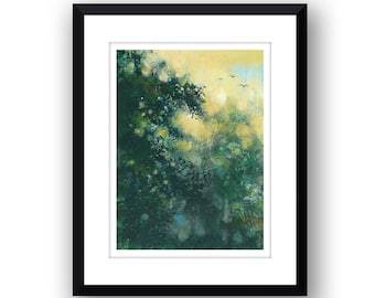 Thick With leaves - Signed Limited Edition, mounted print.