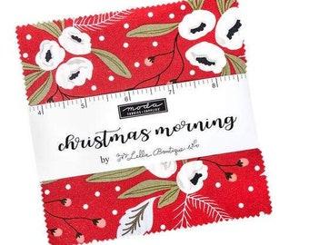 "Moda Precuts 5"" Charm Pack - Christmas Morning"
