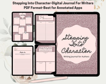 Stepping Into Character-Journal for Writers/Authors