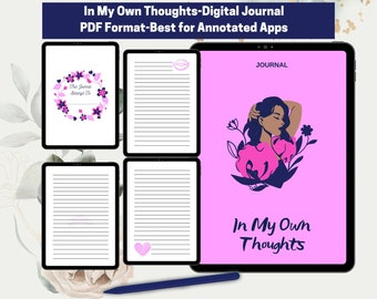 In My Own Thoughts Journal I Digital Journal I GoodNotes Journal I Diary I Goals Journal I Writing Journal