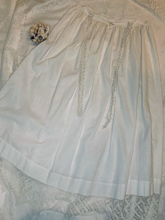 Antique Edwardian 1910s Women's White Petticoat