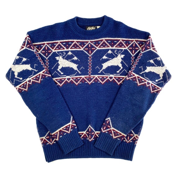 70's Knit Varsity Sweater - image 1