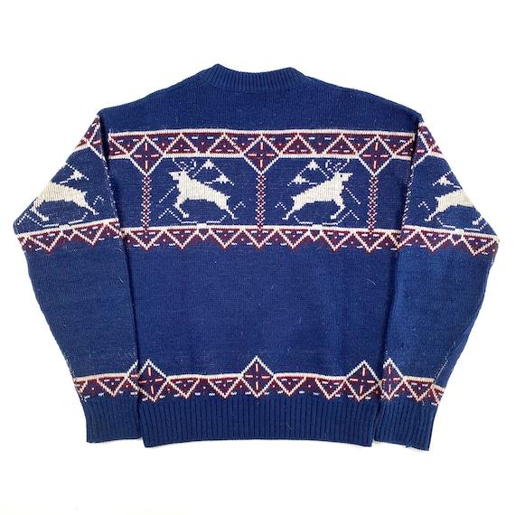 70's Knit Varsity Sweater - image 2