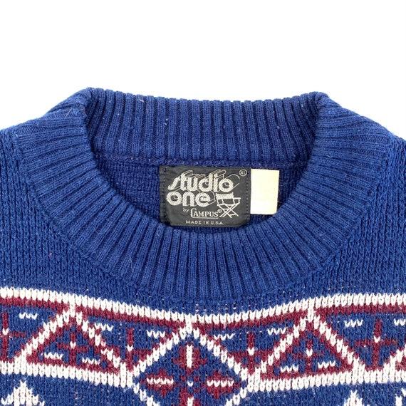 70's Knit Varsity Sweater - image 3