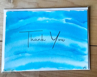 Hand Painted Thank You Card- Geode