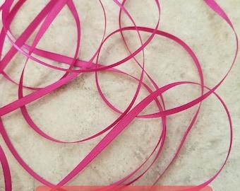 """1/8"""" - 10 YDS Magenta D/F satin ribbon"""