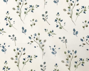 PUL fabric blue branches