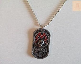 Metro Exodus Necklace, Skull Dog Tag Pendant Necklace, Sparta Pendant From Metro 2033, Game Jewelry, Metro Exodus Jewelry Sparta Gamer