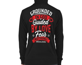 Unisex zip hoodie - Grounded in GOD Collection