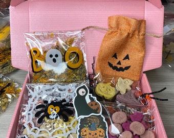 Spooky Hallow-Bun Box - Treats, rabbit, bunny, bow, bandanna, organic, fresh, bunny treats, rabbit treats