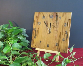 Reclaimed Pecky Cypress Clock -- Natural Finish with Stenciled Numbers