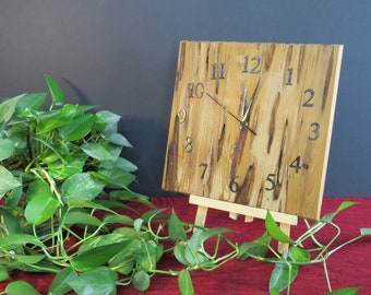 Reclaimed Pecky Cypress Wood Clock -- Rustic Finish