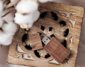 USB stick | Flash | Wooden USB stick personalized with engraving | Wedding USB Stick