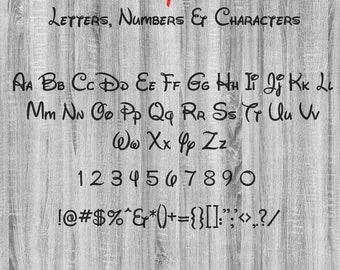 Walt Font svg, Inspired By A Mouse Font,  ttf, Alphabet svg, Walt Letters svg, svg files for cricut, svg, dxf, eps, png