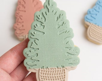 Pine tree stamp with matching cutter