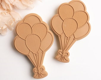 Birthday balloons stamp with matching cutter