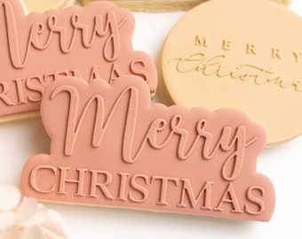 Merry Christmas stamp with matching cutter
