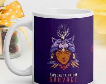 Brilliant White Mug - Shaman - Explore your wilderness