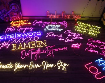 Neon Sign | Custom Neon Sign | Handmade Neon Sign | Wedding Gifts | Neon Signs | Personalized Neon Sign | Neon Bar Sign | Wall Decor