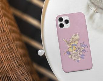 Vogel und Blumen  - iPhone 12/12Pro Handyhülle