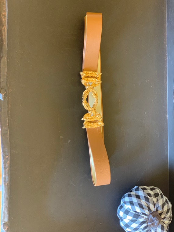 Gold rope leather belt - image 2