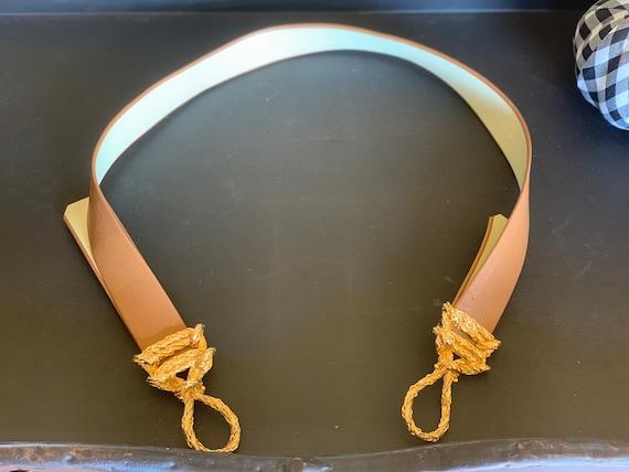Gold rope leather belt - image 3